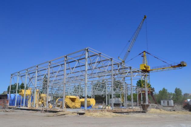 Быстровозводимое здание монтаж каркаса из металлоконструкций от компании Витон (VIton)
