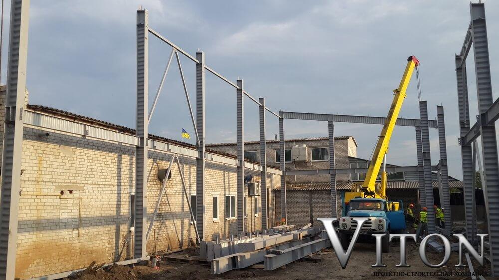 Быстровозводимое здание мясной цеx начало работ в Днепропетровской обл. в 2016г .