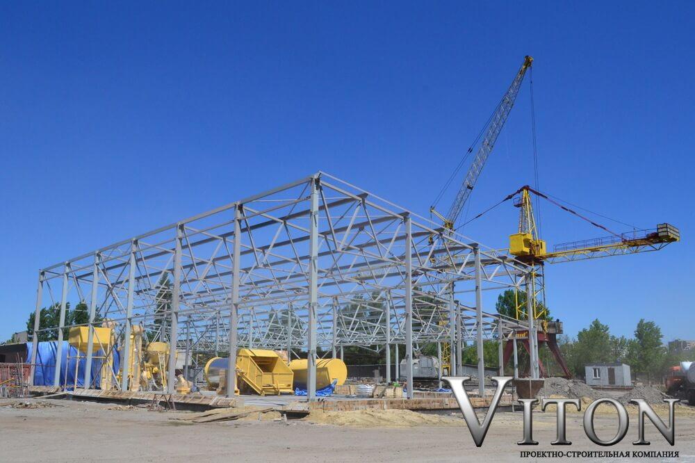 Быстровозводимое здание производственный корпус 1600м2 в г.Харьков 2015г. начало работ
