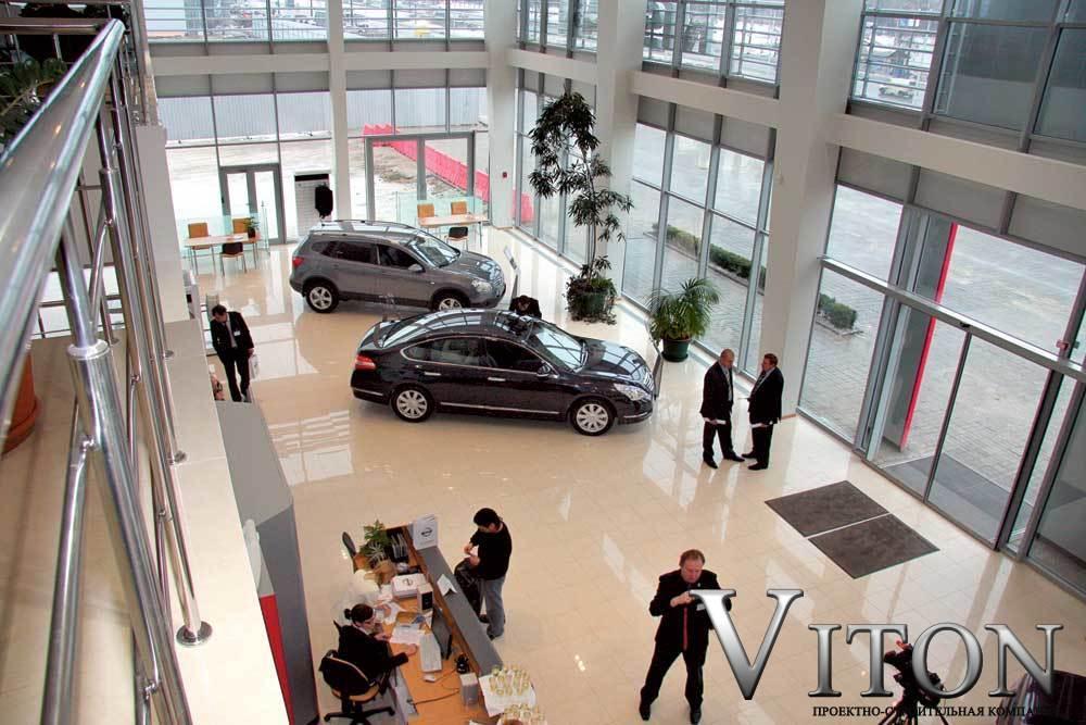 Быстровозводимое здание интерьер автосалона Ниссан  1400м2 в Бориспольском р-не 2014г. начало работ