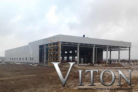 Быстровозводимое здание Автосалон Ниссан 1400м2 в Бориспольском р-не 2014г. начало работ